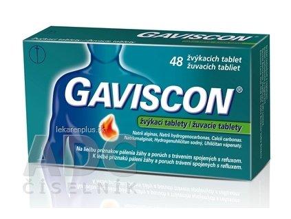 GAVISCON žuvacie tablety tbl mnd 1x48 ks