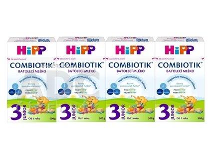 HiPP 3 JUNIOR Combiotik (4-Balenie) mliečna batoľacia výživa (od 1 roku ) 4x500 g (2000 g)