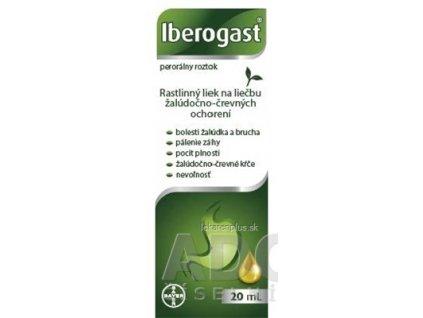 Iberogast sol por (fľ.skl.hnedá) 1x20 ml
