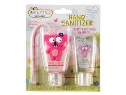 JACK N´JILL Antibakteriálny gél na ruky pre deti s puzdrom KOALA 2x29 ml