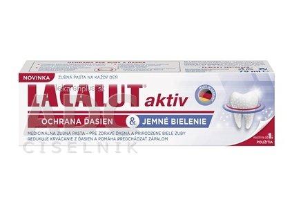 LACALUT AKTIV zubná pasta ochrana ďasien & jemné bielenie 1x75 ml