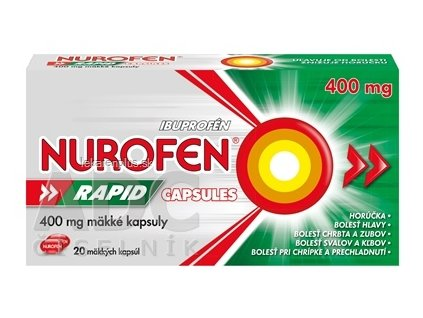 NUROFEN Rapid 400 mg Capsules cps mol 1x20 ks