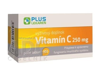 PLUS LEKÁREŇ Vitamín C 250 mg tbl 1x100 ks