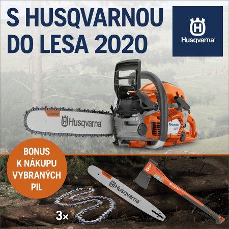 S Husqvarnou do lesa jaro 2020