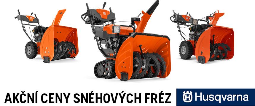 Akční ceny sněhových fréz Husqvarna