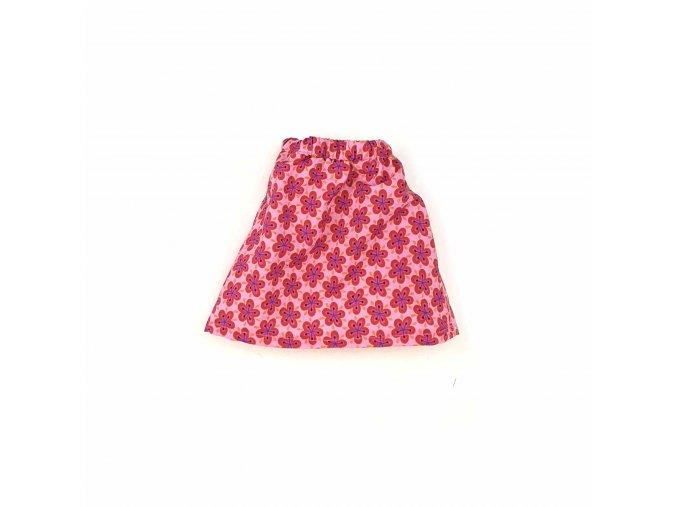 Růžové šatičky s kvítky bez rukávů