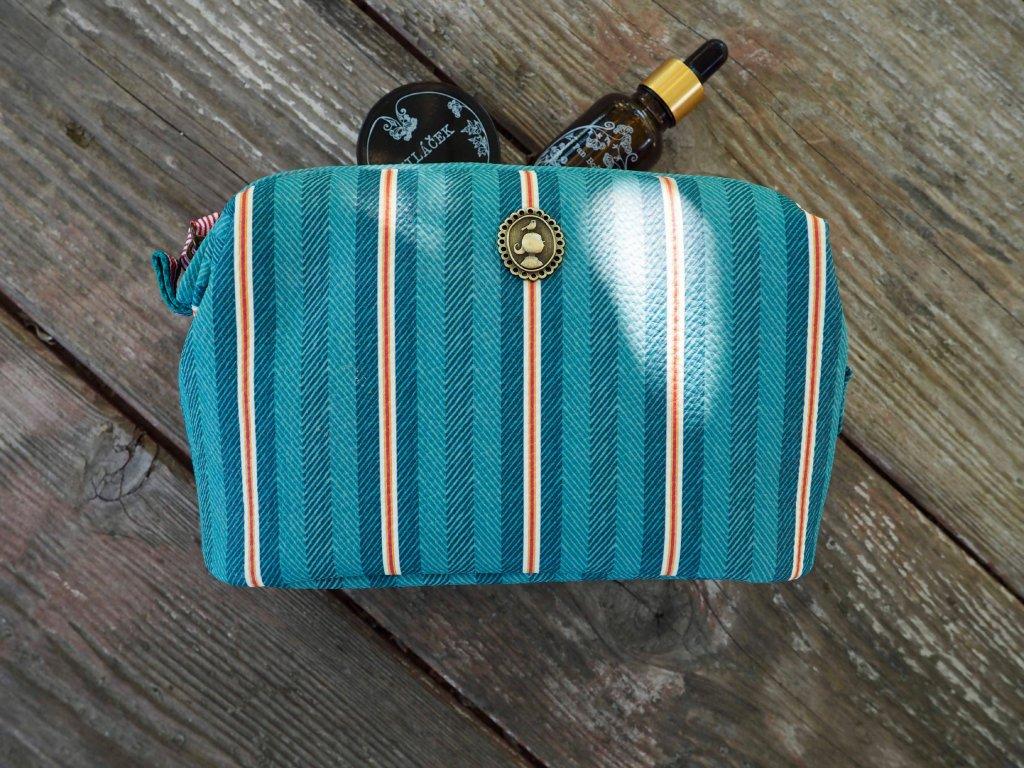Kosmetická taška Blurred Lines zelená