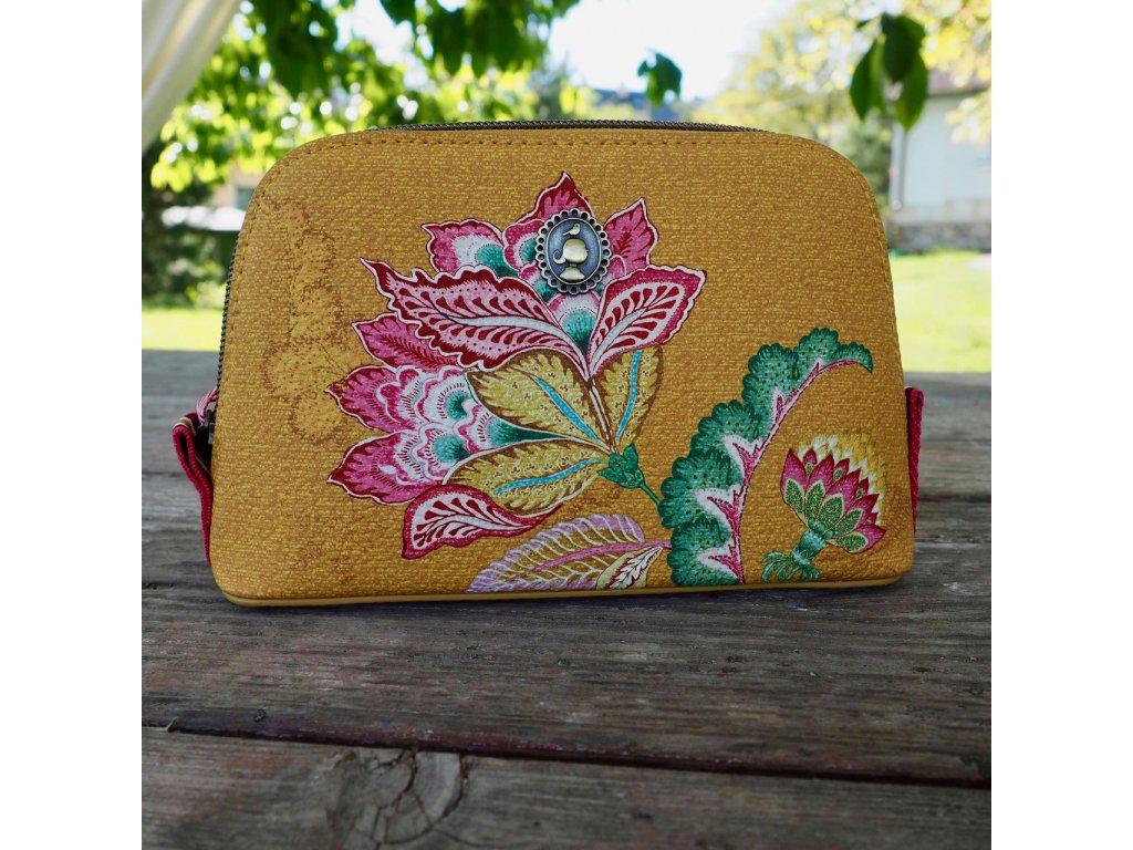 Kosmetická taška Triangle Jambo Flower žlutá