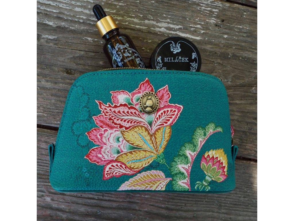 Kosmetická taška Triangle Jambo Flower zelená