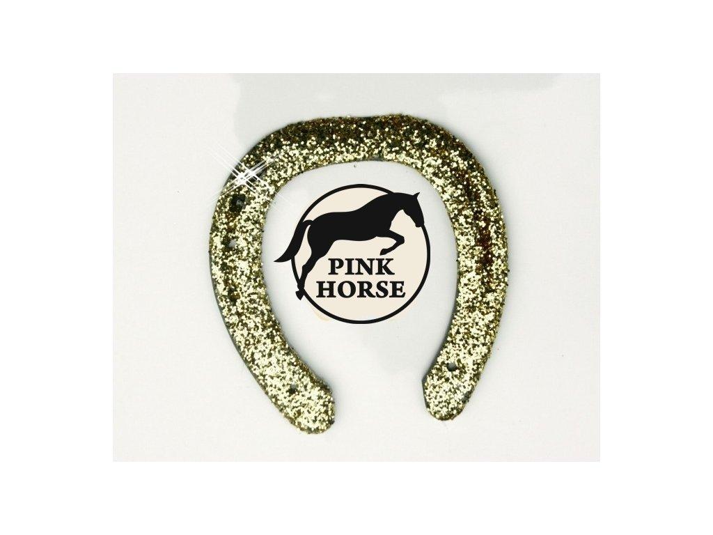 Glitter Podkova - zlatá