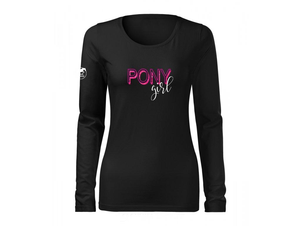 Tričko s dlouhým rukávem - PONY Girl