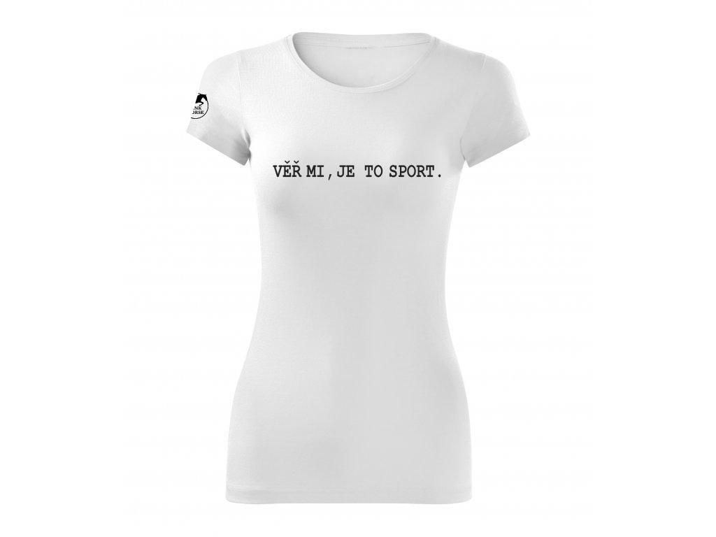 Tričko - Paty dolů! Velikost S, barva černá