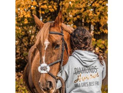 Mikina se zipem - Diamond Horses