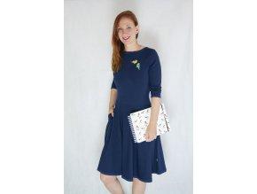 Šaty Dara Dark Blue