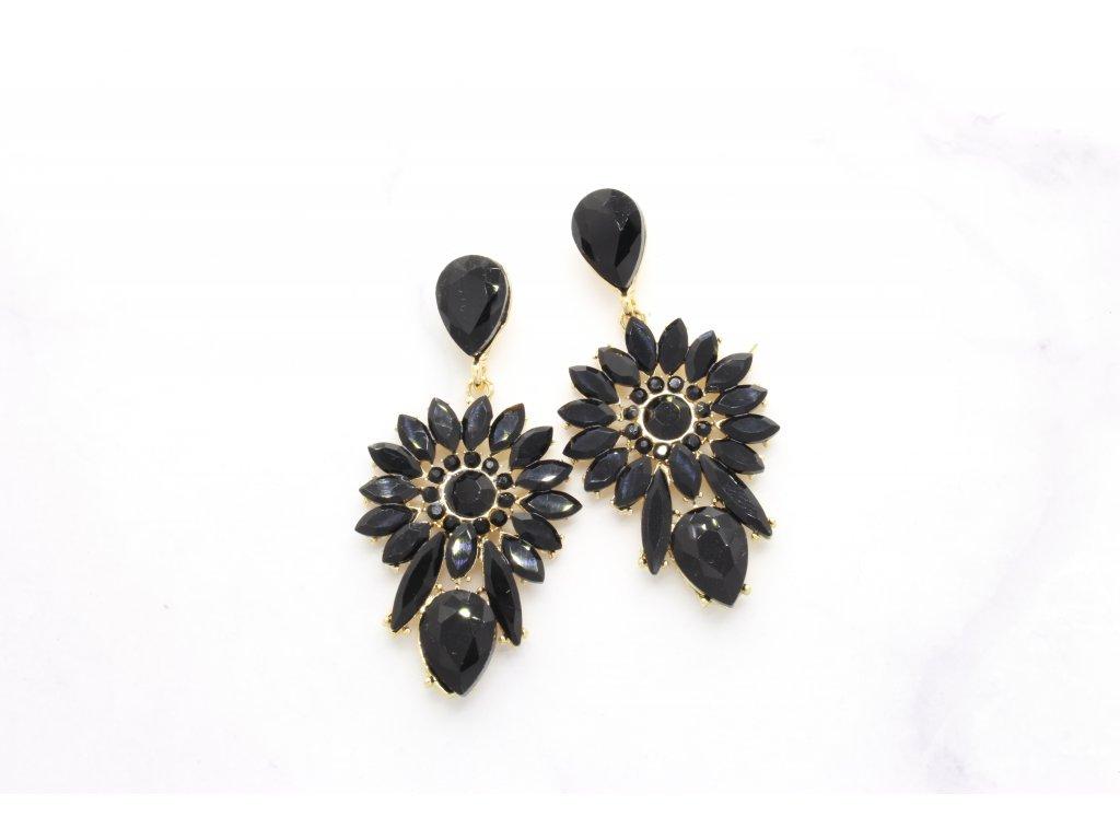 Kamienkové náušnice Romantic Black