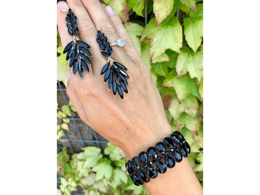 Kamienkový náramok Glossy Black