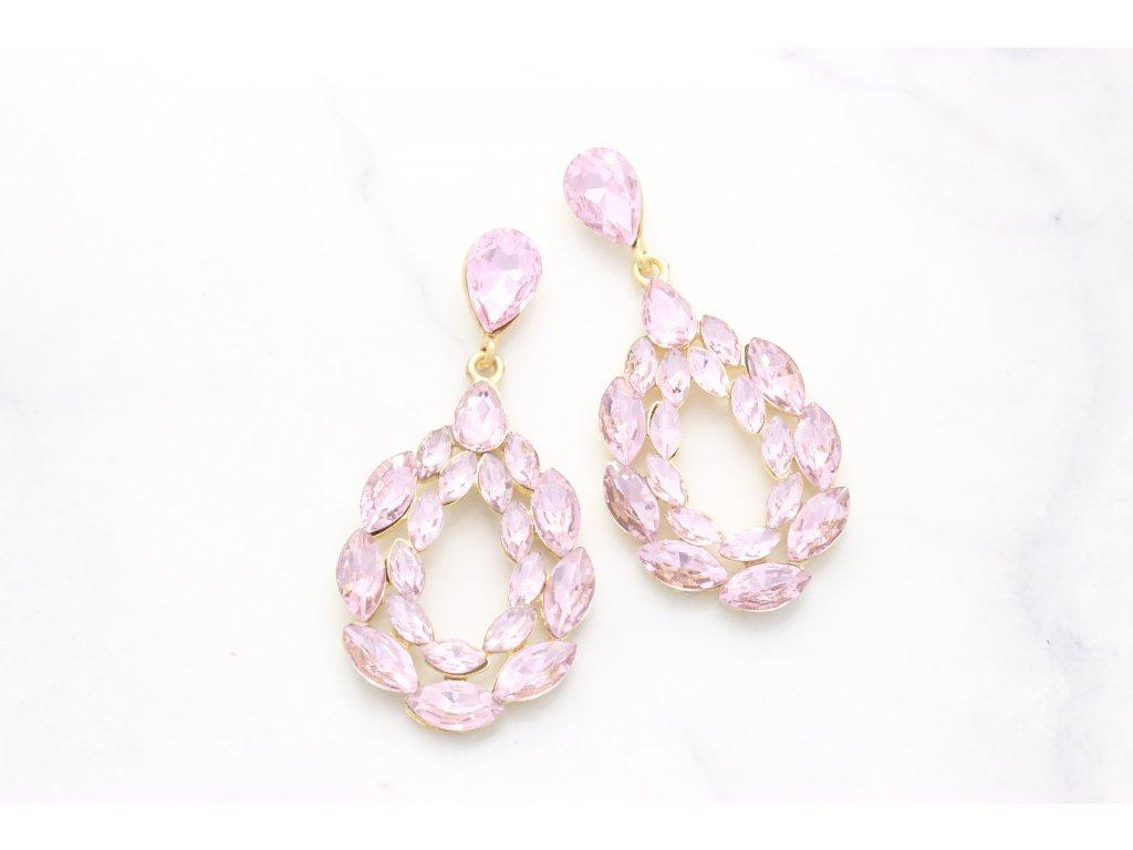 Kamienkové náušnice Elizabeth pink