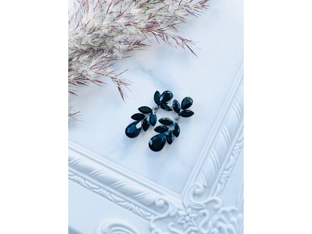 Kamienkové náušnice Bella Black