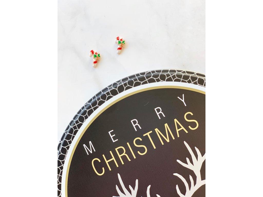 Vianočné náušnice ozdoba 1