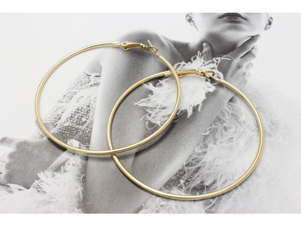 Zlaté náušnice kruhy 5,5 cm
