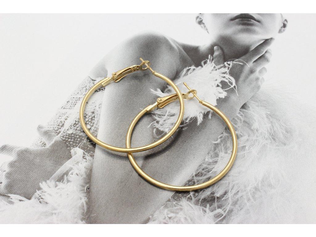 Zlaté náušnice kruhy 3,5 cm