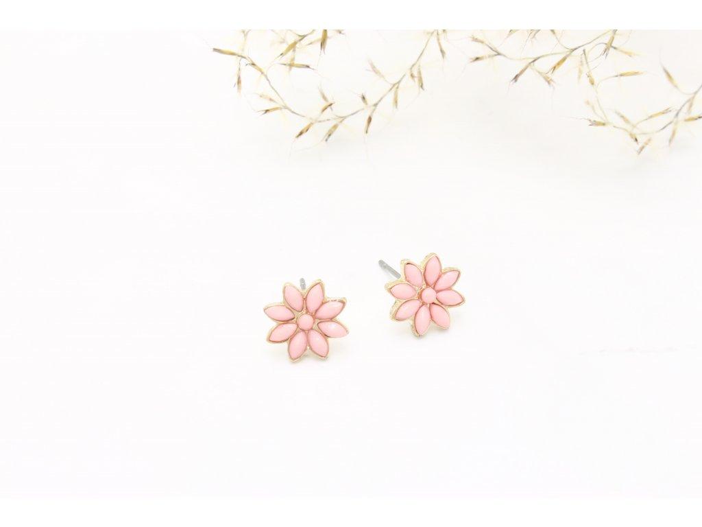Napichovacie náušnice ružový kvet