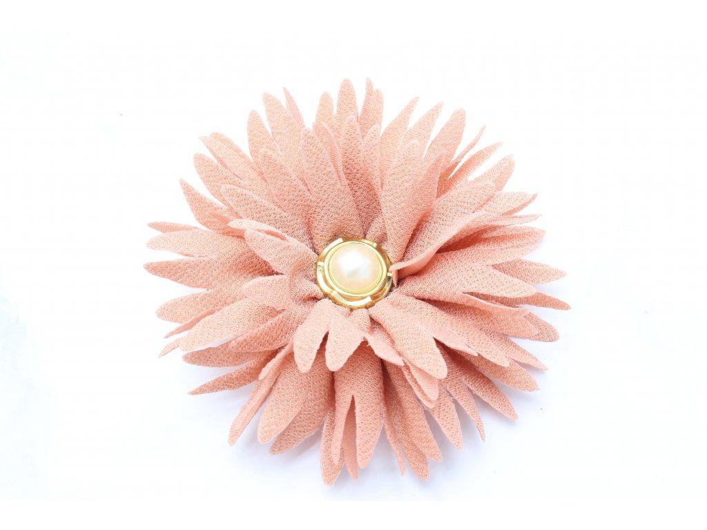 Kvet do vlasov staroružový s perlou