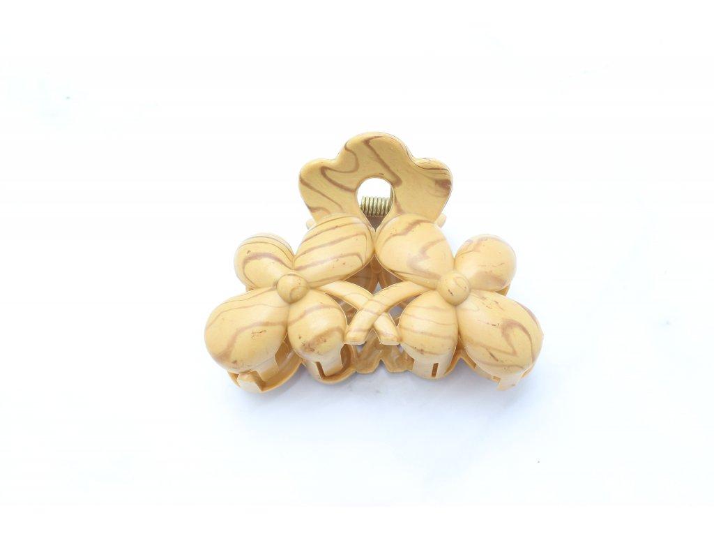 Štipec kvety drevený vzor 1