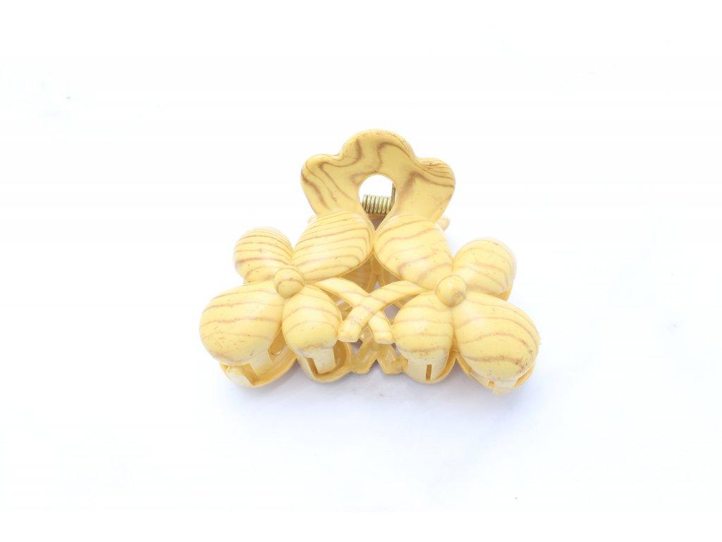 Štipec kvety drevený vzor 2