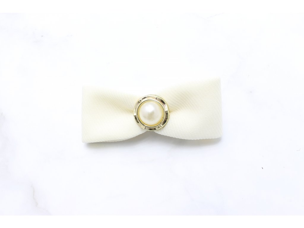 Mašľa biela s perlou