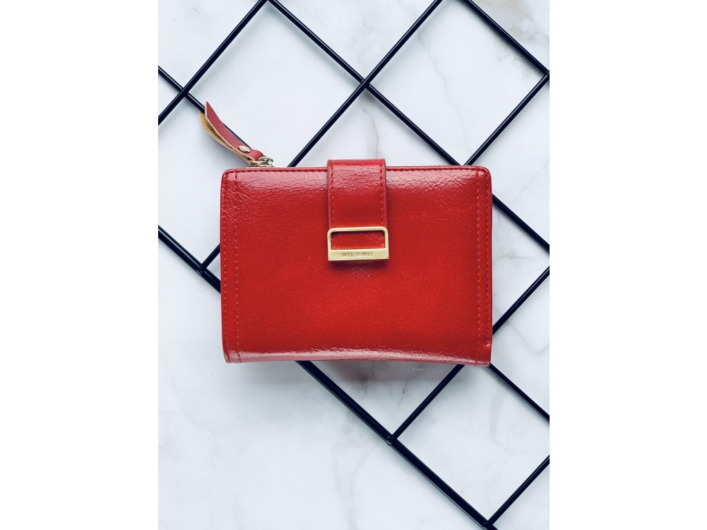 Červená peňaženka Milano