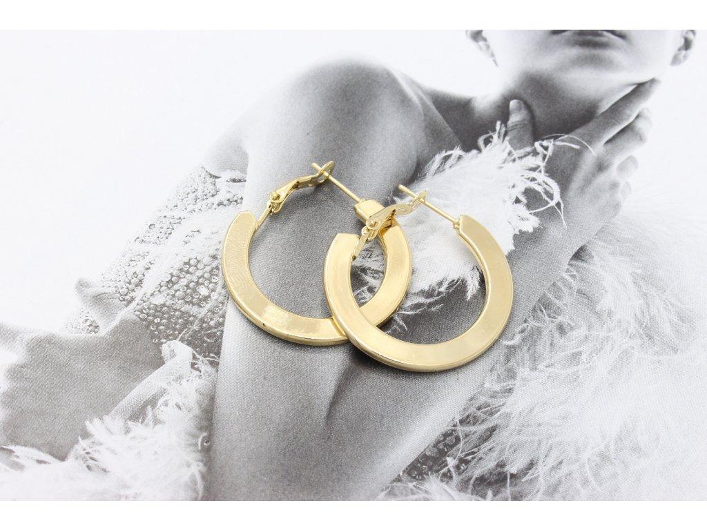 Zlaté náušnice kruhy 2 cm-antialergické