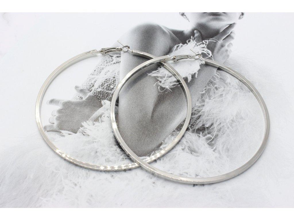 Maxi strieborné kruhy 7,5 cm-antialergické