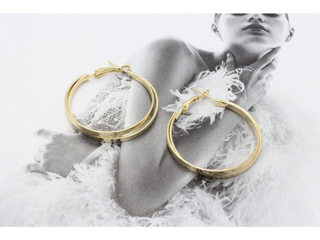 Zlaté dvojité kruhy 3,5 cm-antialergické