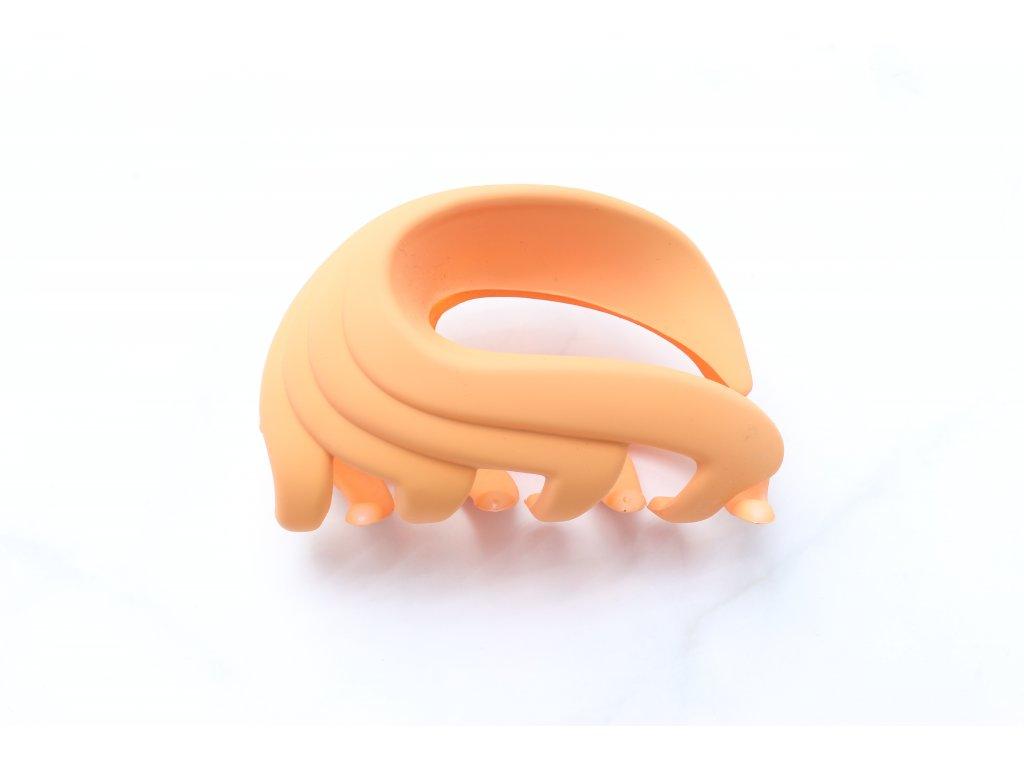 Oranžový matný štipec
