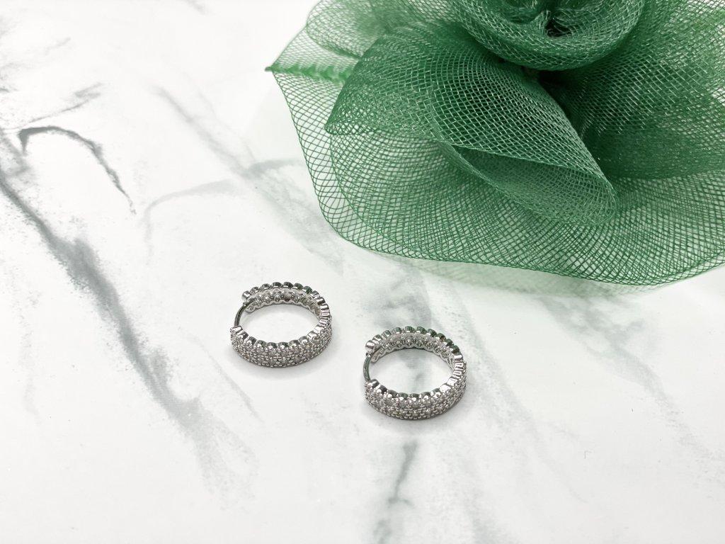 Exkluzívne postriebrené náušnice kruhy Malia Silver