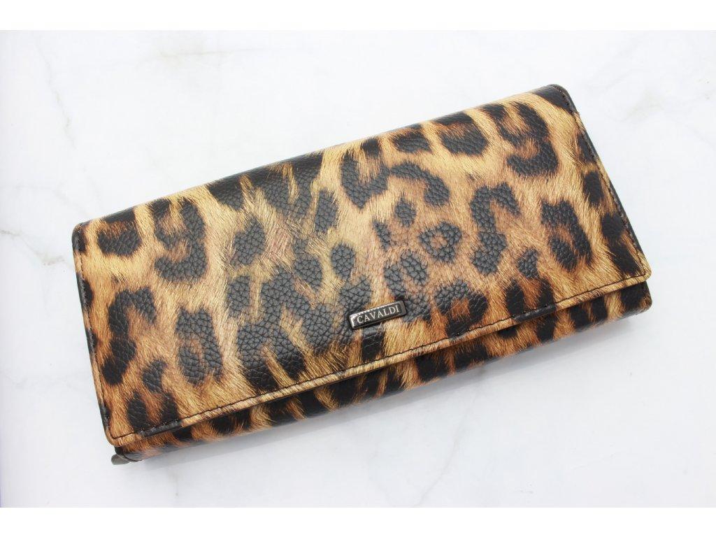 Peňaženka Cavaldi tmavý leopard
