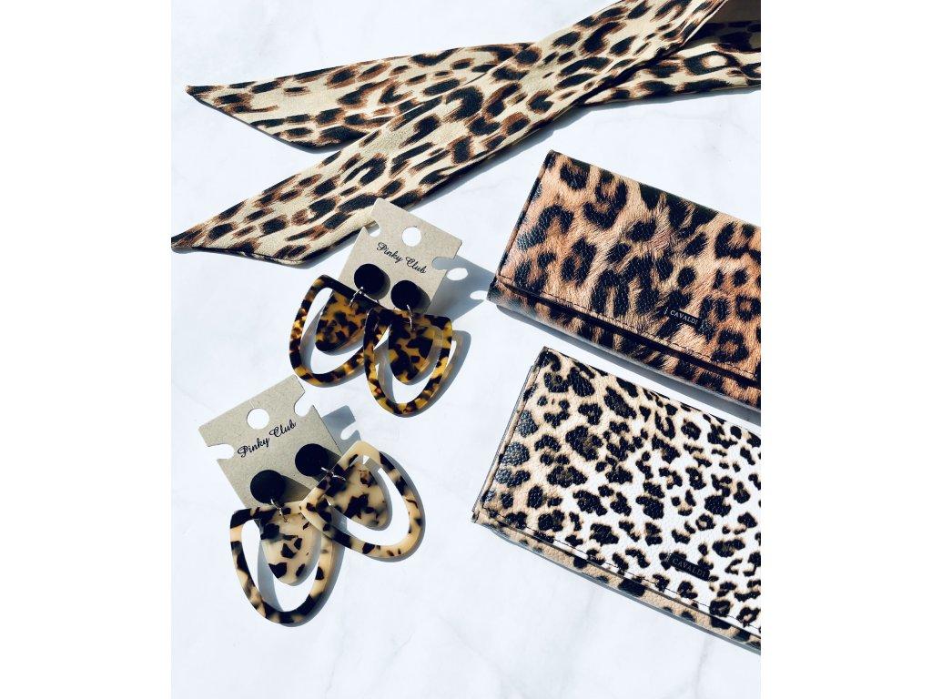 Peňaženka Cavaldi svetlý leopard