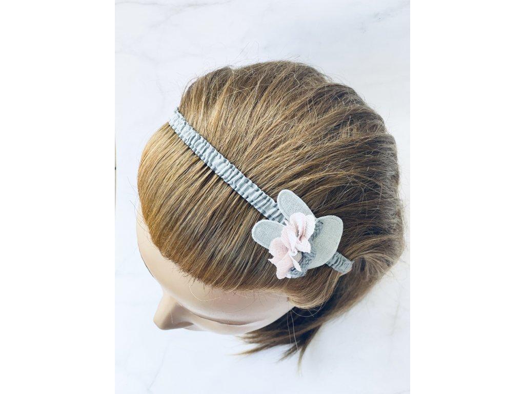Sivá čelenka do vlasov - Zajko