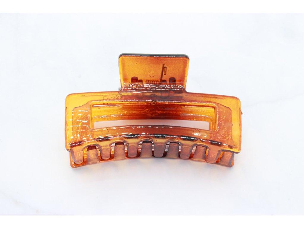 Hnedo-oranžový štipec obdĺžnik