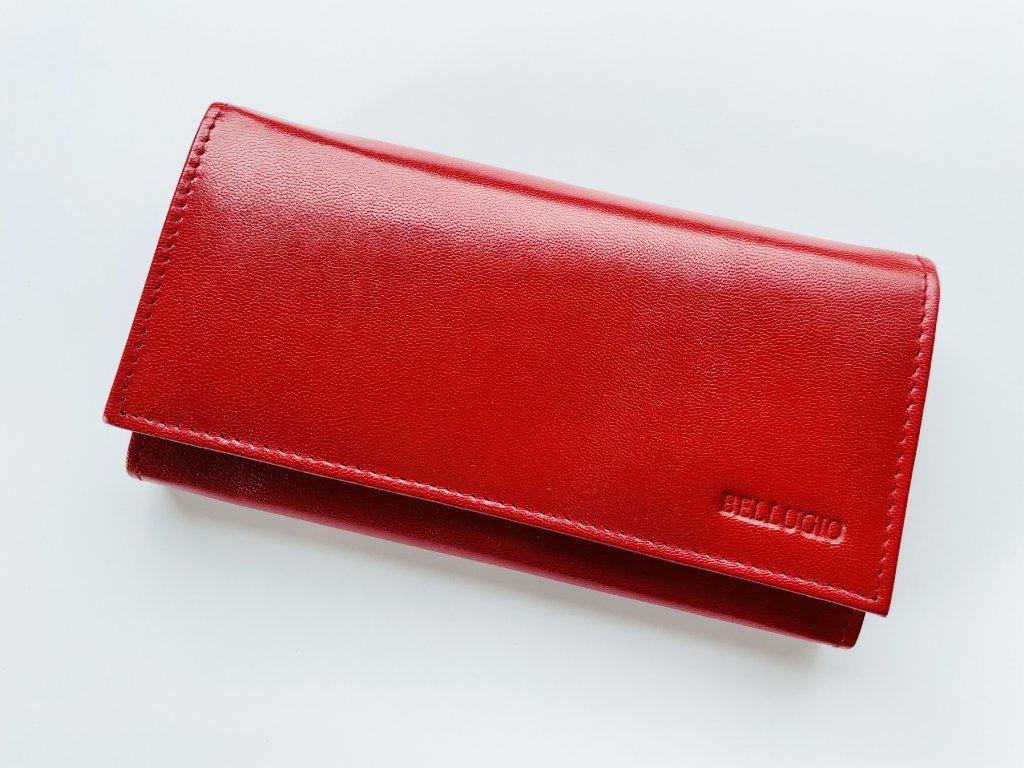 Kožená červená peňaženka Bellugio Red