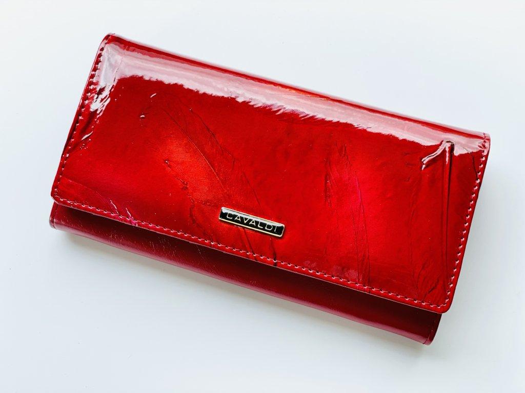Kožená červená peňaženka CAVALDI