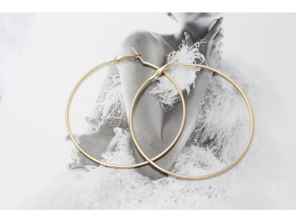 Zlaté náušnice kruhy 6,5 cm