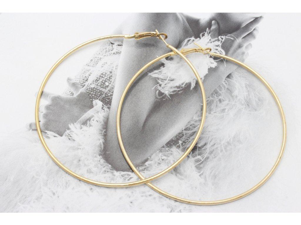 Zlaté náušnice kruhy 7,5 cm