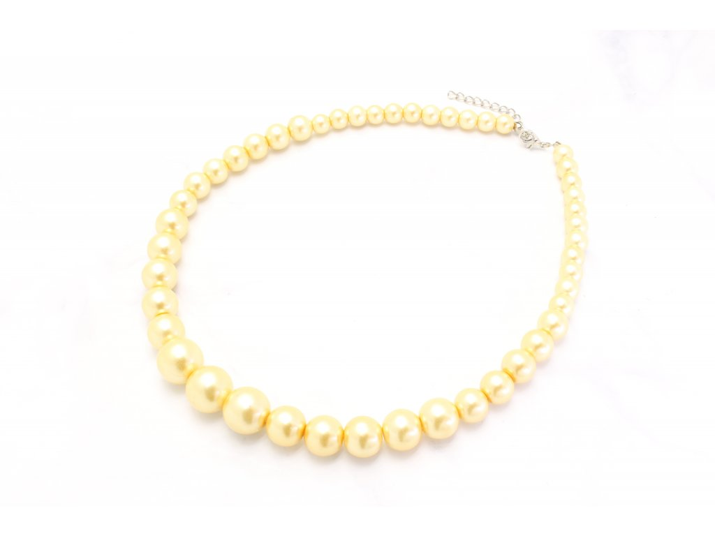 Perlový náhrdelník zlatý