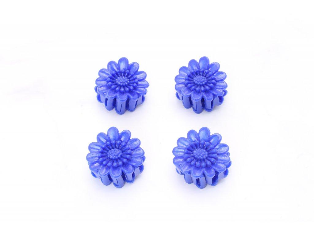 Štipec modré margaréty 4 ks