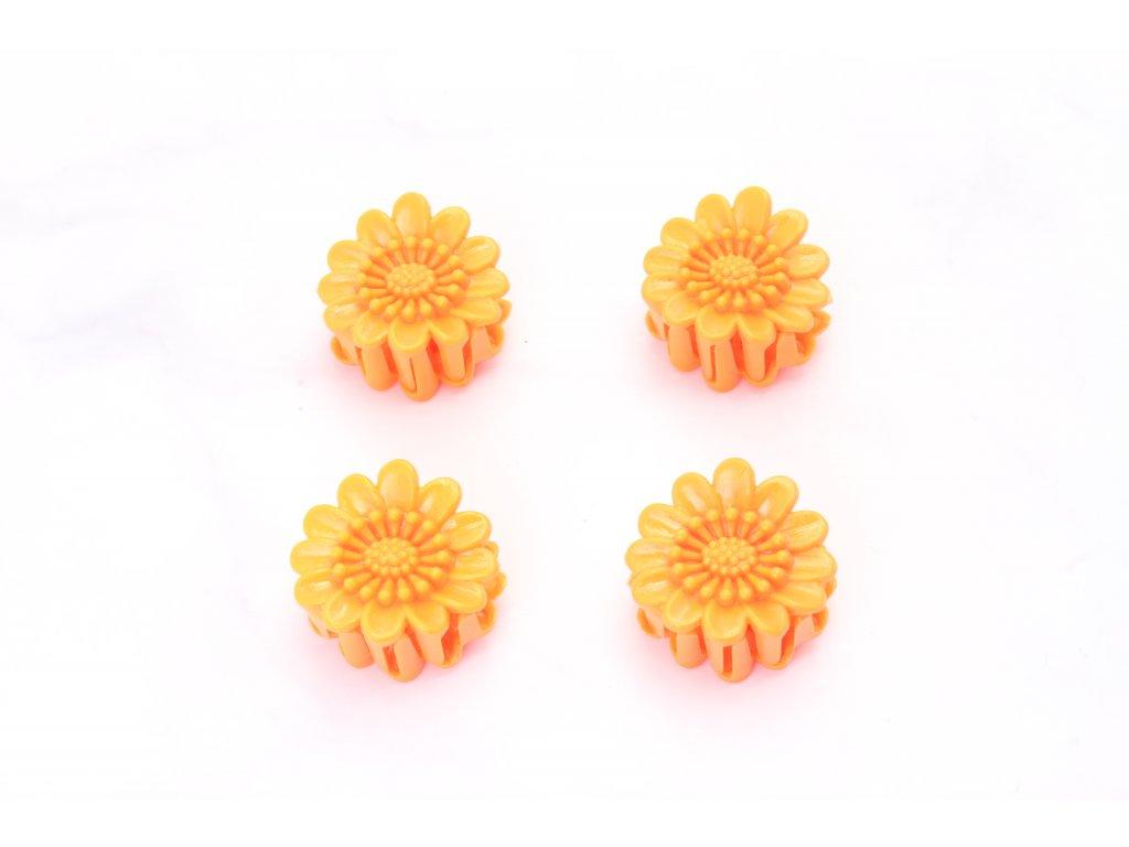 Štipec oranžové margaréty 4 ks