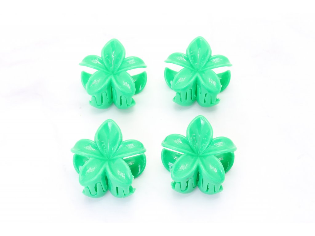 Štipec zelené kvety 4 ks