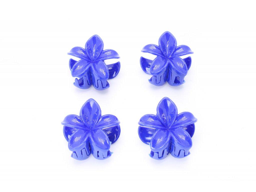 Štipec modré kvety 4 ks
