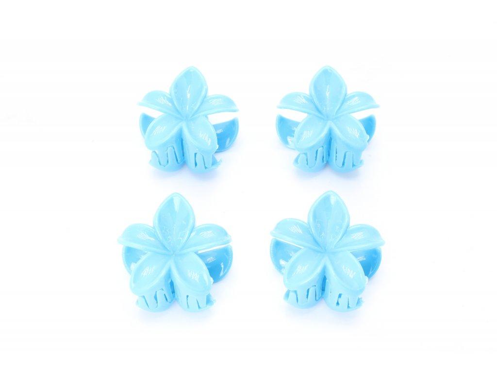 Štipec tyrkysové kvety 4 ks